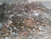 تلال القمامة فى عزبة العجيزى بالغربية