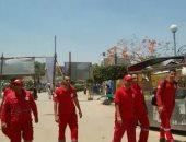 جولات ميدانية للهلال الأحمر فى حديقة الفسطاط