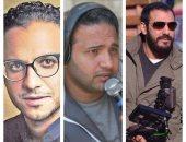 المخرجون محمد جمعة ورؤوف عبد العزيز وبيتر ميمى