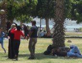 إقبال كثيف من مواطنى السويس على الحدائق والمتنزهات