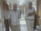 رئيس مدينة المحلة داخل المستشفى العام