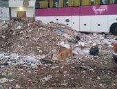 تراكم القمامة بشوارع مدينة الغردقة