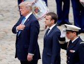 دونالد ترامب الرئيس الأمريكى ونظيره الفرنسى