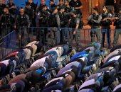 المسلمون يؤدون الصلاة فى المسجد الأقصى