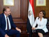 الدكتورة سحر نصر وزيرة الاستثمار خلال اللقاء