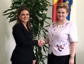 الدكتورة سحر نصر مع نائبة رئيس وزراء رومانيا