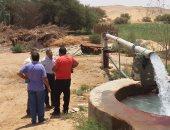 رئيس قطاع المياه الجوفية يتفقد آبار الرى بالوادى الجديد