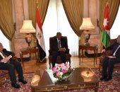 وزراء خارجية مصر والأردن وفلسطين