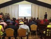 مؤتمر وضع حجر اساسا محطة الصرف الصناعى جنوب بورسعيد