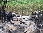 تفحم عدد من السيارات نتيجة للحريق