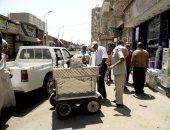 حملات نظافة وتحرير 75 مخالفة اشغالات بطهطا