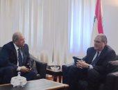 وزير العدل اللبنانى سليم جريصاتى والمستشار أحمد أبو العزم رئيس مجلس الدولة