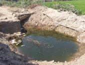 بيارات قرية ابشان بها المياه تهدد المارة