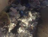 أكوام القمامة بجوار سور ترام محطة رشدى