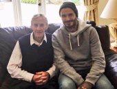 ديفيد بيكهام مع المدرب السابق لناشئى مانشستر يونايتد