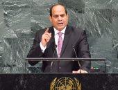 الرئيس يلقى خطابه بالأمم المتحدة