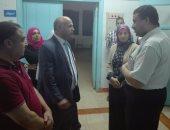 الدكتور عبد الناصر حميده وكيل وزارة الصحة ببنى سويف فى جولة