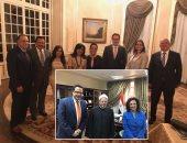 جانب من زيارة الباحث الأمريكي لمصر