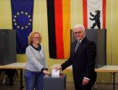 الرئيس الألمانى يدلى بصوته فى الانتخابات