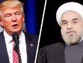 الرئيس الإيراني حسن روحانى وترامب