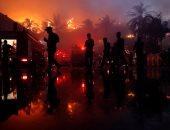 """اندلاع حريق ضخم بفندق """"كاندوجى بالاس"""""""