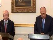 وزير الخارجية مع نظيره البرتغالى