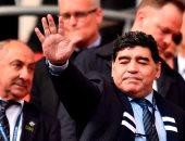 مارادونا فى مباراة ليفربول وتوتنهام