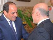 الرئيس عبد الفتاح السيسي خلال استقبال رئيس وزراء العراق