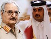 عبد الحكيم بلحاج والمشير خليفة حفتر وتميم بن حمد