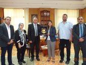 جانب من لقاء رئيس جامعة كفر الشيخ ومستشارة وزير الاتصالات