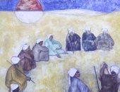لوحة التحطيب للفنان عبد الغفار شديد