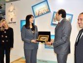 وزيرة السياحة اليونانية تزور الجناح المصرى بمعرض Philoxenia باليونان
