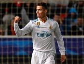 فرحة كريستيانو رونالدو بأحد هدفيه فى المباراة