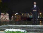 سعد الحريري يقرأ الفاتحة علي قبر والده
