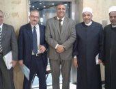 النائب سمير رشاد ومسئولى وزارة الاوقاف