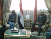 لقاء محافظ بورسعيد ورئيس قصور الثقافة