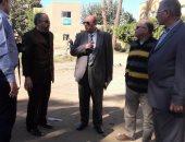 نائب وزير الإسكان يتفقد على أعمال ترميم مستشفى سرس الليان