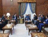 شيخ الأزهر  خلال لقائه رئيس حكومة الوفاق الليبية