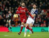 أحمد حجازى ومحمد صلاح في مباراة ليفربول ووست بروميتش ألبيون أمس