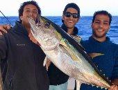 أول سمكة تم اصطيادها بمهرجان كأس مصر لصيد الأسماك