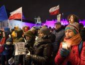 مظاهرات حاشدة فى شوارع بولندا