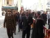 مساعد وزير الداخلية ومدير أمن الغربية داخل المسجد الأحمدى