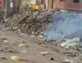 تراكم المخلفات والقمامة فى شوارع عزبة السلخانة