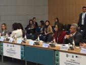 هالة السعيد وزيرة التخطيط خلال مشاركتها باجتماعات منظمة التعاون الاقتصادى