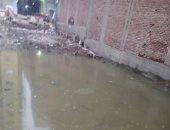 غرق شارع المتربة بقرية بشتيل