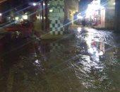 الصرف الصحي يغرق شوارع مناطق عزبه البيضاء
