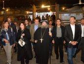زيارة محافظ أسيوط وفنانين لمسار رحلة العائلة المقدسة