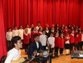 أطفال كفر الشيخ خلال وصلة غناء احتفالا بعيد الغطاس