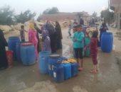 معاناة الأهالى بسبب انقطاع المياه