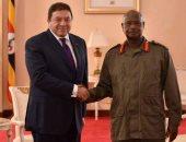 السفير المصرى الجديد لدى اوغندا طارق سلام مع الرئيس الأوغندى يوري موسيفيني